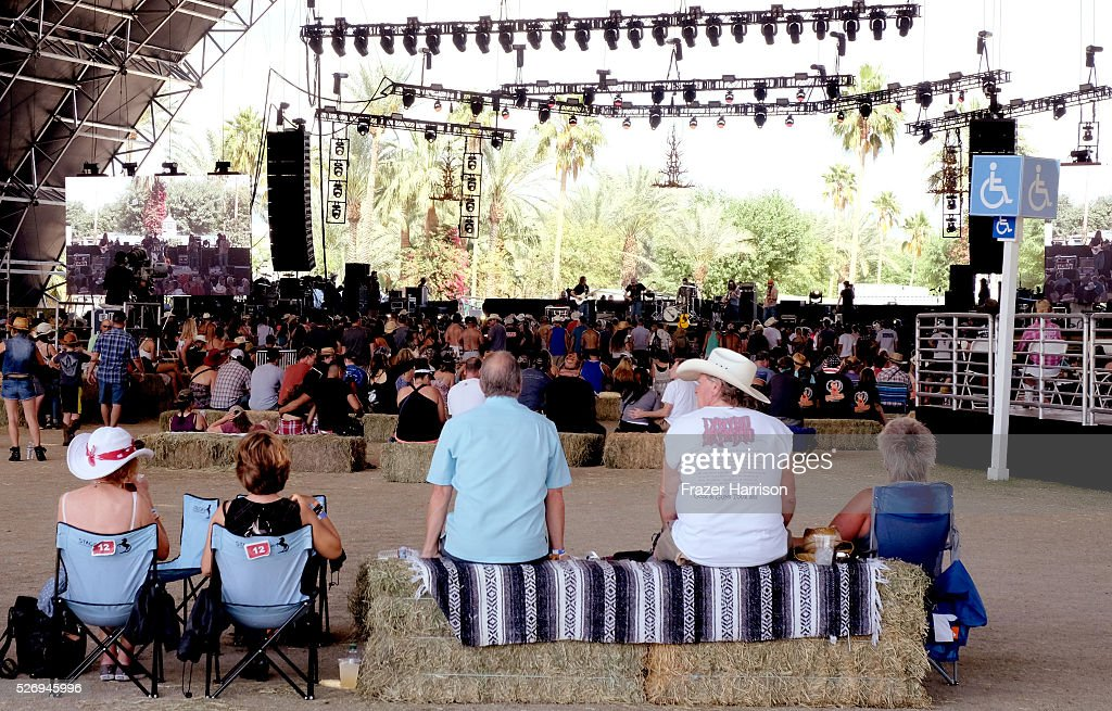 Music fans watch Jason Boland and the Stragglers at Palomino stage during 2016 Stagecoach California's Country Music Festival at Empire Polo Club on May 01, 2016 in Indio, California.