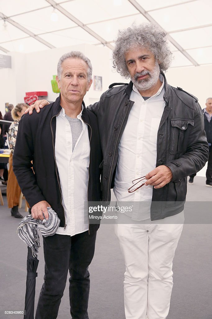 Music, film and show producer, Michael Ostin and music publisher, Ron Handler attend the 2016 Frieze Art Fair: New York at Randall's Island on May 4, 2016 in New York City.