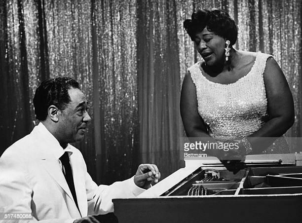 Music greats Duke Ellington and Ella Fitzgerald