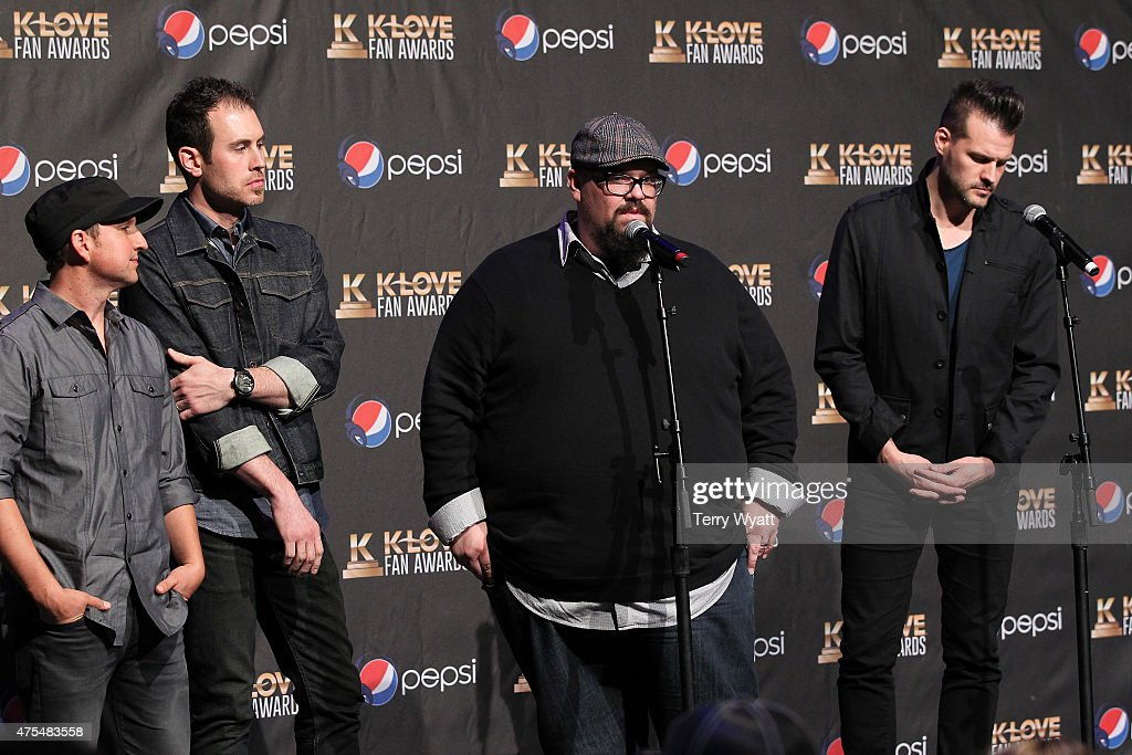 Music group Big Daddy Weave speak onstage in the press room during the 3rd Annual KLOVE Fan Awards at the Grand Ole Opry House on May 31 2015 in...