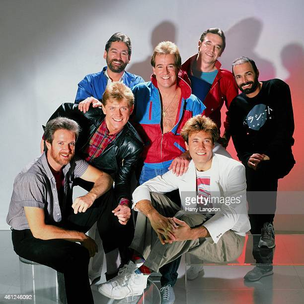 Music Group Chicago poses for a portrait in 1984 in Los Angeles California