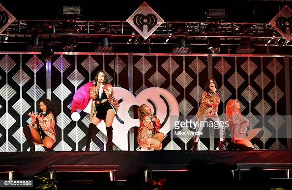 Music group Fifth Harmony performs onstage at 1061 KISS FM's Jingle Ball 2016 presented by Capital One at American Airlines Center on November 29...
