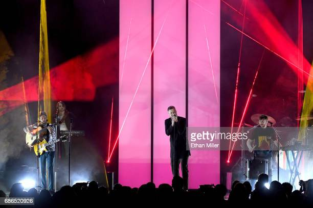 Music group Imagine Dragons performs onstage during the 2017 Billboard Music Awards at TMobile Arena on May 21 2017 in Las Vegas Nevada
