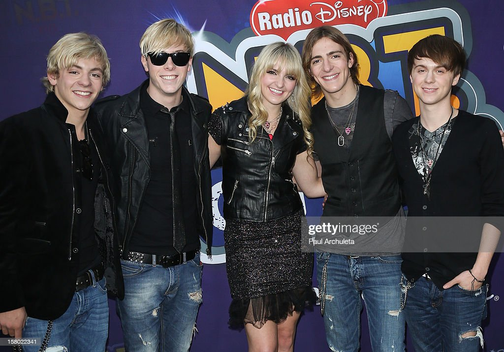 Music Group R5 attends the Radio Disney's 'N.B.T.' (Next BIG Thing) season five winner announcements at The Americana at Brand on December 8, 2012 in Glendale, California.