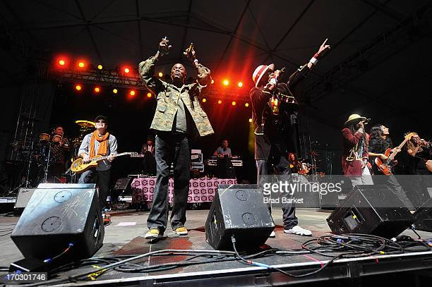 Music group Thievery Corporation performs on stage at the SKYY Vodka At Governors Ball on June 8 2013 in New York City
