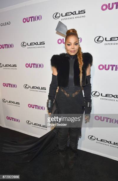 Music Icon Award honoree Janet Jackson attends OUT Magazine #OUT100 Event presented by Lexus at the the Altman Building on November 9 2017 in New...