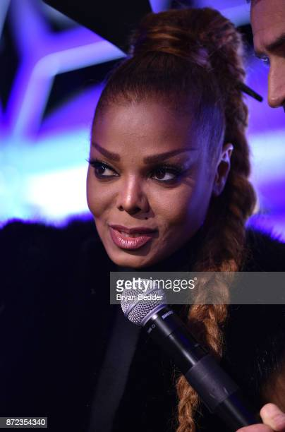 Music Icon Award honoree Janet Jackson speaks on stage during OUT Magazine #OUT100 Event presented by Lexus at the the Altman Building on November 9...