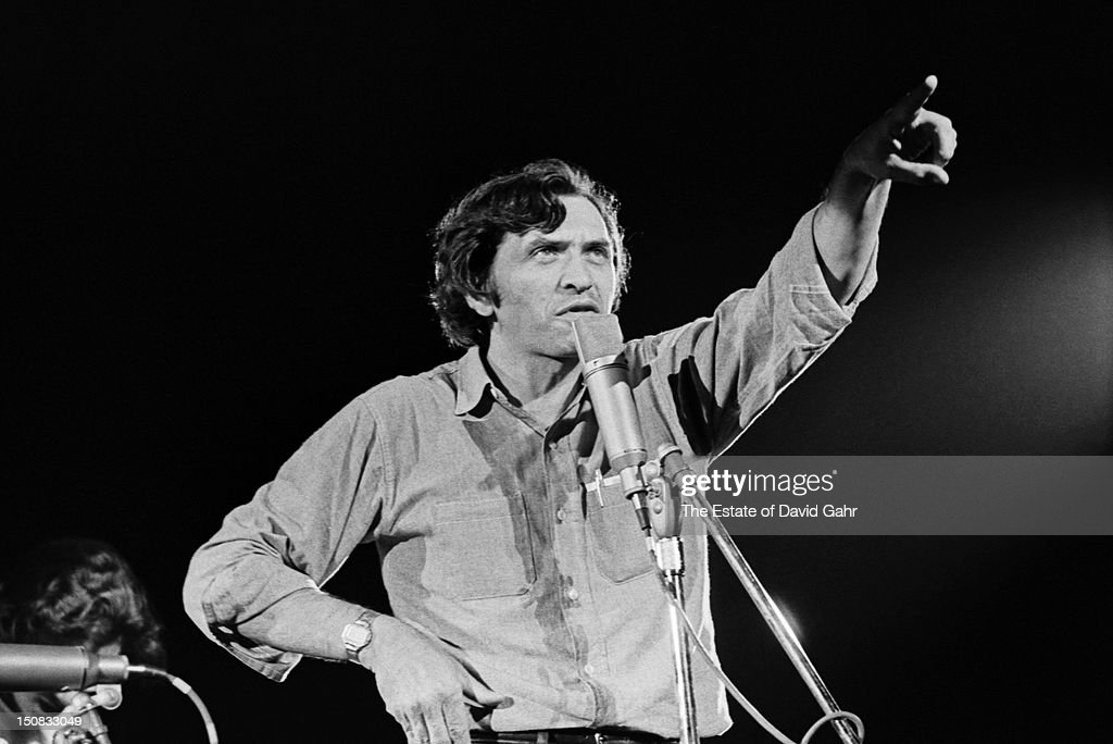 Music impresario and rock concert promoter Bill Graham makes an introduction on stage at a concert billed as 'The Fillmore At Tanglewood featuring...