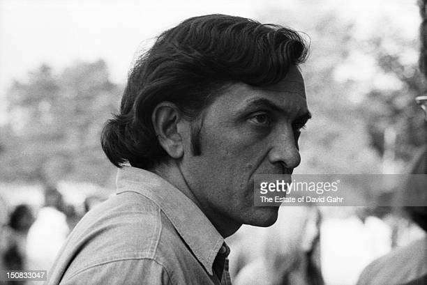 Music impresario and rock concert promoter Bill Graham poses for a portrait backstage at a concert billed as 'The Fillmore At Tanglewood' featuring...