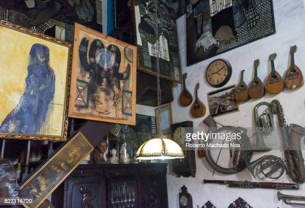 Music instruments at the Ileana Sanchez and Joel Jover house The Cuban artists collect old objects and their house is a tourist attraction They use...
