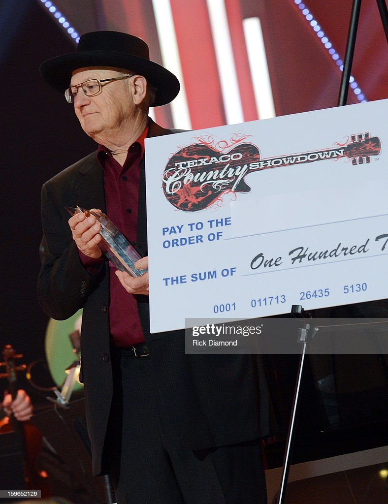 Music Legend Charlie McCoy at the 31st annual Texaco Country Showdown National final at the Ryman Auditorium on January 17, 2013 in Nashville, Tennessee.