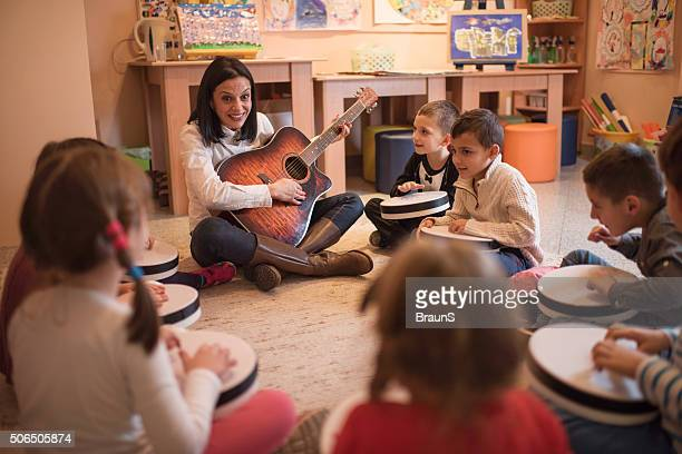 Music lesson in a preschool!