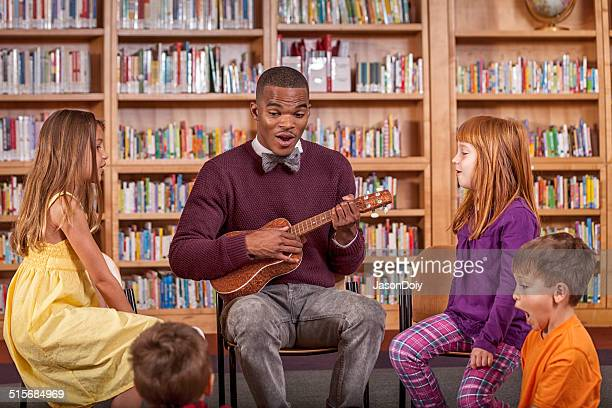 Music Lesson in the Library
