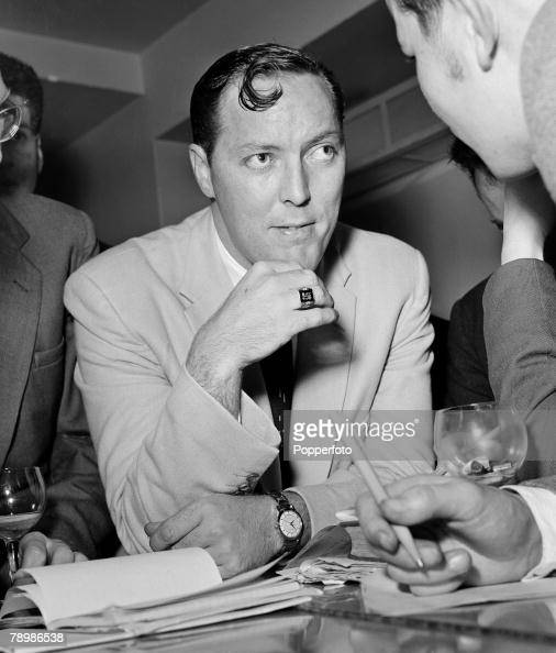 Music London England Rock and roll singer Bill Haley attending a press reception
