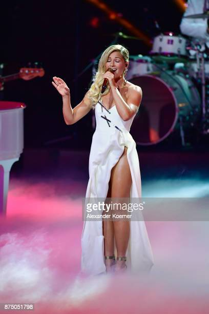 'Music National' award winner Helene Fischer performs on stage during the Bambi Awards 2017 show at Stage Theater on November 16 2017 in Berlin...