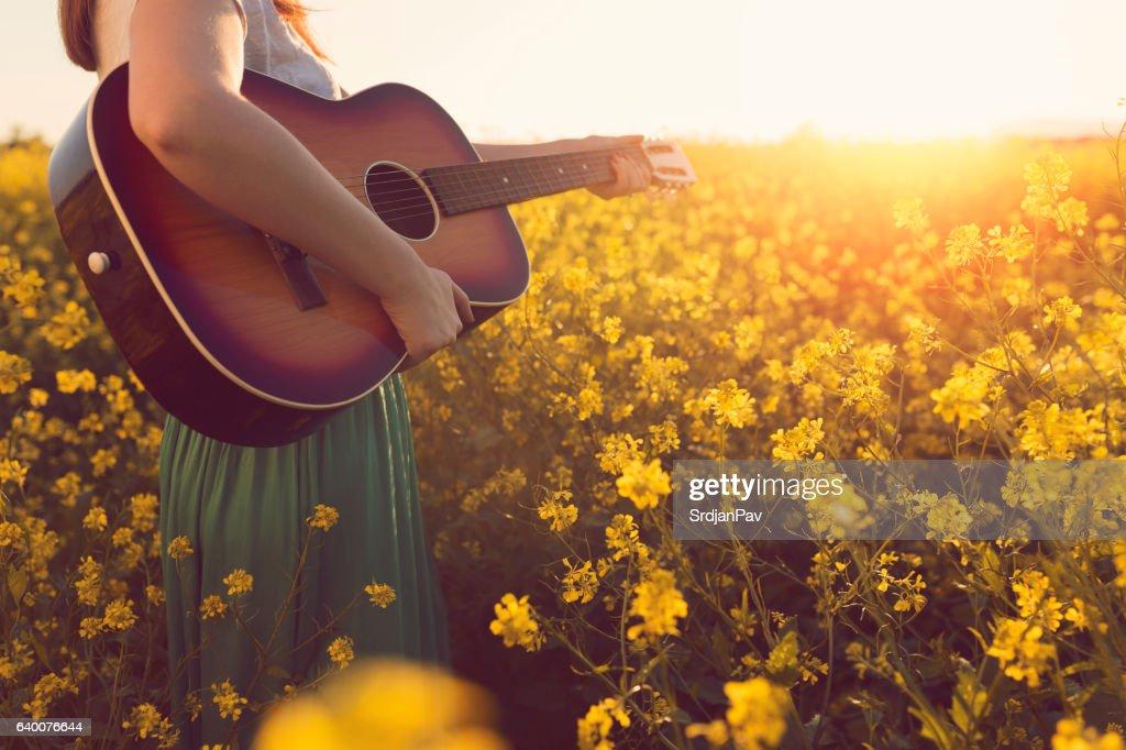 Music of the summer magic : Stock Photo