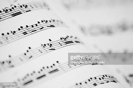 Music partitures : Stock-Foto