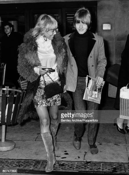 circa 1967 Brian Jones of the Rolling Stones group with one time girl friend Swedish actress Anita Pallenberg