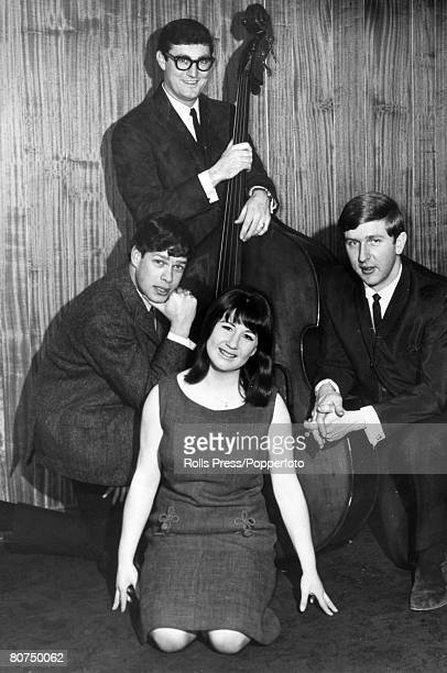 February 1965 British pop/folk group 'The Seekers' who had a string of hit records in the 1960's including 'Georgy Girl' The Seekers front Judith...