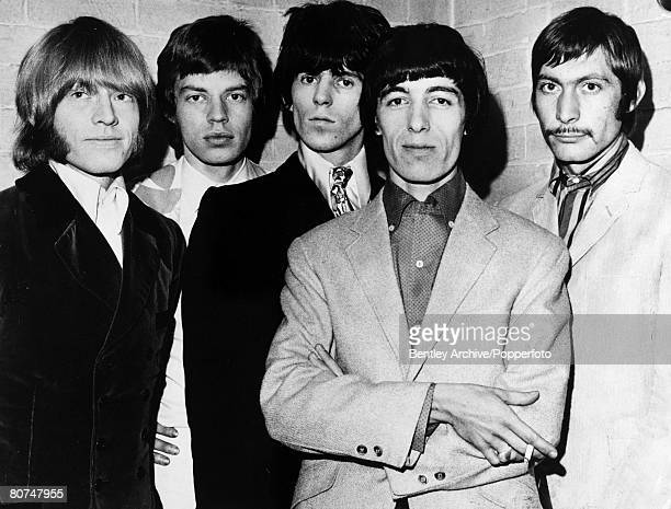 October 1966 The Rolling Stones group at a Manchester hotel leftright Brian Jones Mick Jagger Keith Richards Bill Wyman and Charlie Watts