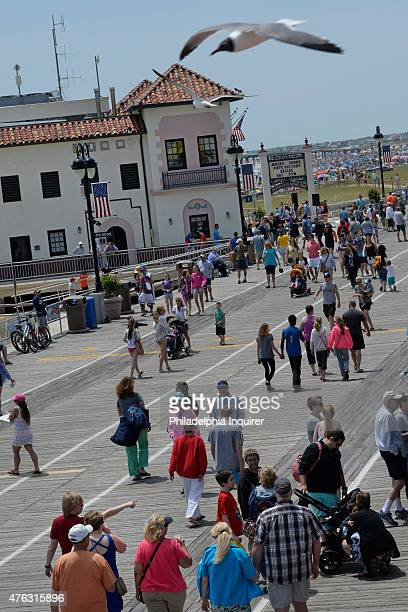Music Pier on the Ocean City boardwalk on May 24 2015 The concept of the boardwalk at the Jersey Shore was invented by the ironically named Andrew...