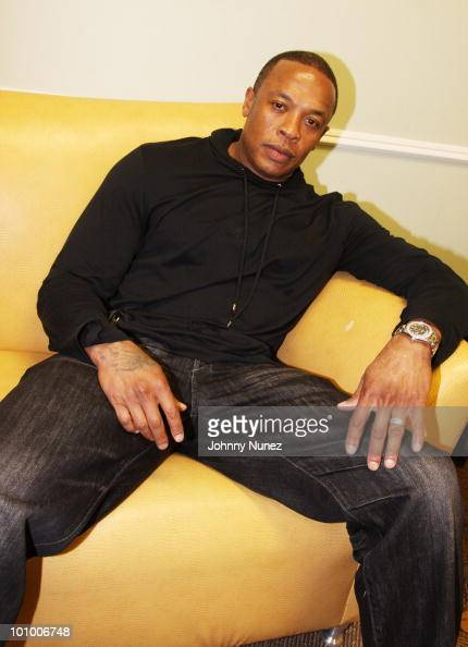 Music producer and entrepreneur Dr Dre attends the launch of Diddybeats at Best Buy on May 26 2010 in New York City