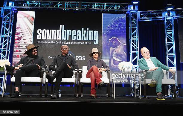 Music producer and songwriter Don Was music producer Hank Shocklee music producer and songwriter Linda Perry and music producer Peter Asher speak...