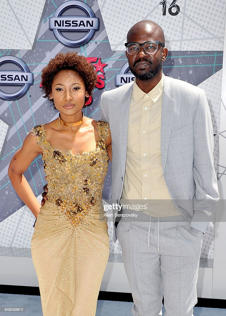 Music producer Black Coffee (R) and guest attend the 2016 BET Awards at Microsoft Theater on June 26, 2016 in Los Angeles, California.