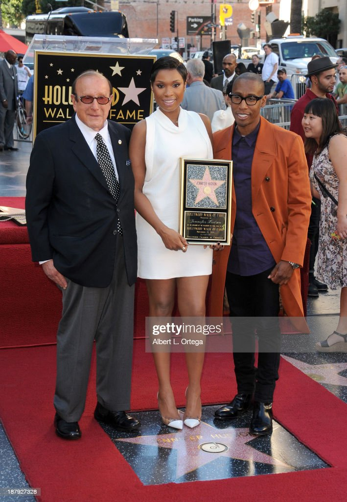 Music producer <a gi-track='captionPersonalityLinkClicked' href=/galleries/search?phrase=Clive+Davis&family=editorial&specificpeople=209314 ng-click='$event.stopPropagation()'>Clive Davis</a>, singer <a gi-track='captionPersonalityLinkClicked' href=/galleries/search?phrase=Jennifer+Hudson&family=editorial&specificpeople=234833 ng-click='$event.stopPropagation()'>Jennifer Hudson</a> and music producer <a gi-track='captionPersonalityLinkClicked' href=/galleries/search?phrase=Raphael+Saadiq&family=editorial&specificpeople=858977 ng-click='$event.stopPropagation()'>Raphael Saadiq</a> attend <a gi-track='captionPersonalityLinkClicked' href=/galleries/search?phrase=Jennifer+Hudson&family=editorial&specificpeople=234833 ng-click='$event.stopPropagation()'>Jennifer Hudson</a>'s Star ceremony on The Hollywood Walk Of Fame on November 13, 2013 in Hollywood, California.