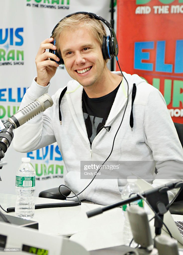 Music Producer/ DJ <a gi-track='captionPersonalityLinkClicked' href=/galleries/search?phrase=Armin+van+Buuren&family=editorial&specificpeople=801189 ng-click='$event.stopPropagation()'>Armin van Buuren</a> visits the Elvis Duran Z100 Morning Show at Z100 Studio on December 13, 2013 in New York City.