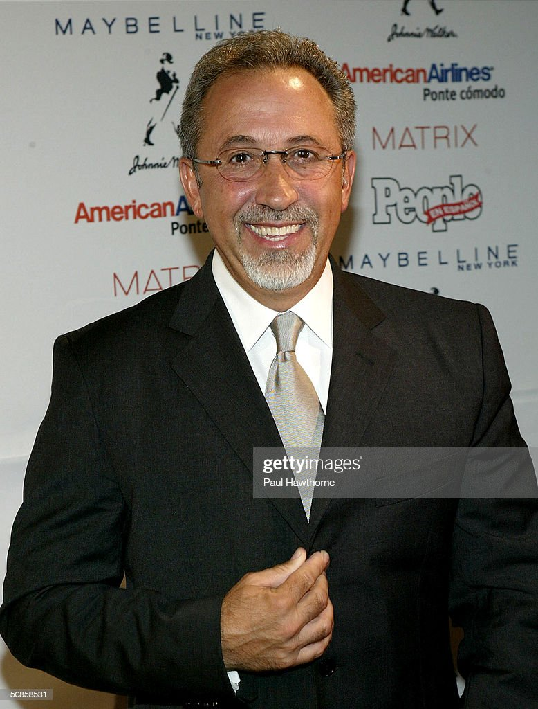 Music producer Emilio Estefan attends the 'People En Espanol' 50 Most Beautiful People Gala at Splashlight Studios May 19, 2004 in New York City.