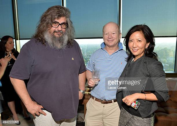 Music producer George Drakoulias author Bob Lefsetz and CoPresident/Chief Creative Officer of the Entertainment Group of Guggenheim Media Janice Min...