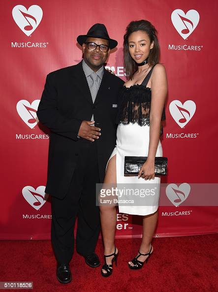 Music producer Jimmy Jam and Bella Harris attend the 2016 MusiCares Person of the Year honoring Lionel Richie at the Los Angeles Convention Center on...