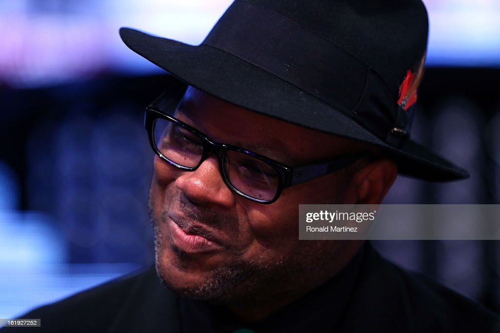 Music producer Jimmy Jam smiles before the 2013 NBA All-Star game at the Toyota Center on February 17, 2013 in Houston, Texas.