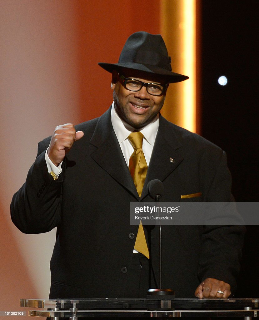 Music producer Jimmy Jam speaks onstage at the The 55th Annual GRAMMY Awards at Nokia Theatre on February 10, 2013 in Los Angeles, California.