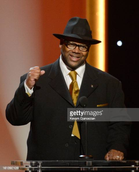 Music producer Jimmy Jam speaks onstage at the The 55th Annual GRAMMY Awards at Nokia Theatre on February 10 2013 in Los Angeles California