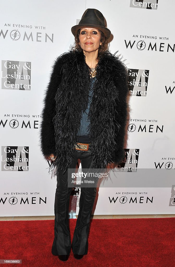 Music producer <a gi-track='captionPersonalityLinkClicked' href=/galleries/search?phrase=Linda+Perry&family=editorial&specificpeople=2133172 ng-click='$event.stopPropagation()'>Linda Perry</a> arrives at the L.A. Gay & Lesbian Center's 2013 'An Evening With Women' Gala at The Beverly Hilton Hotel on May 18, 2013 in Beverly Hills, California.