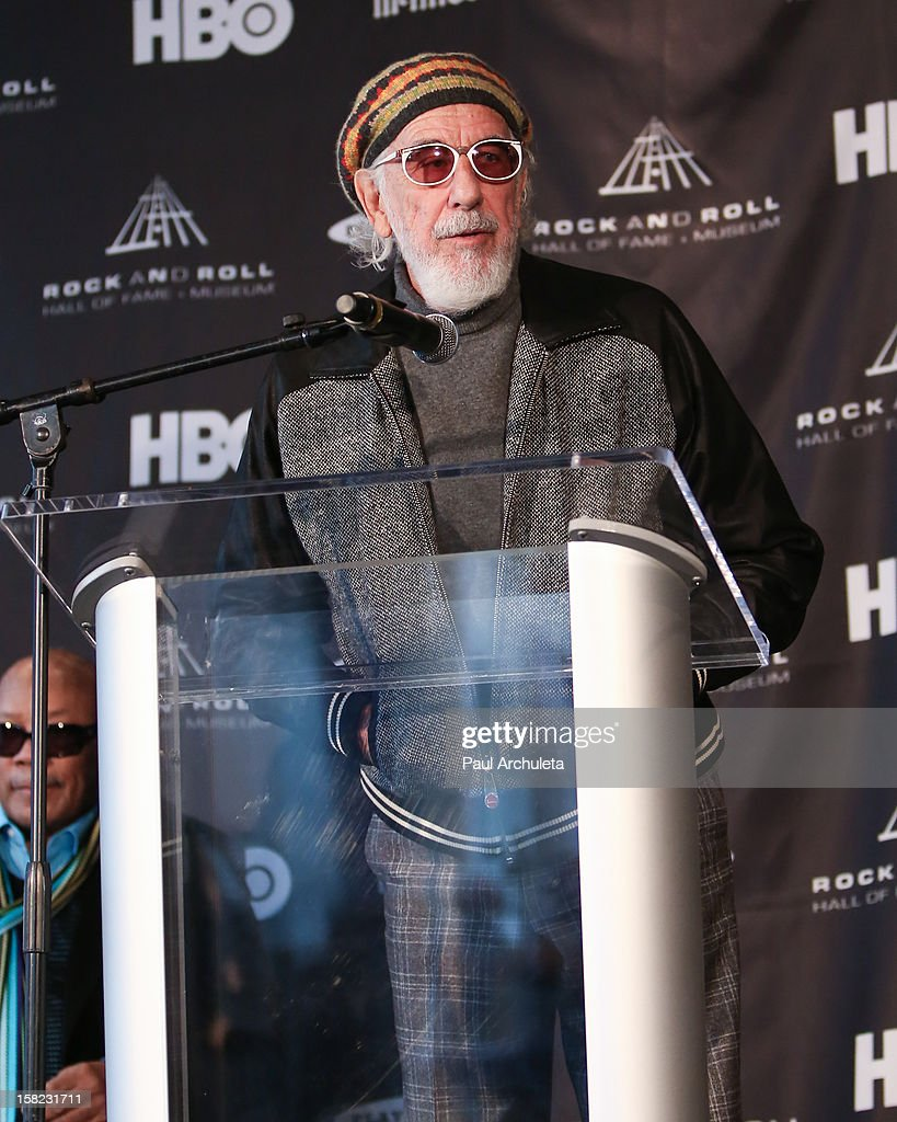 Music producer Lou Adler attends the announcements for the 2013 inductees to the 28th annual Rock And Roll Hall of Fame induction ceremony at Nokia Theatre LA Live on December 11, 2012 in Los Angeles, California.