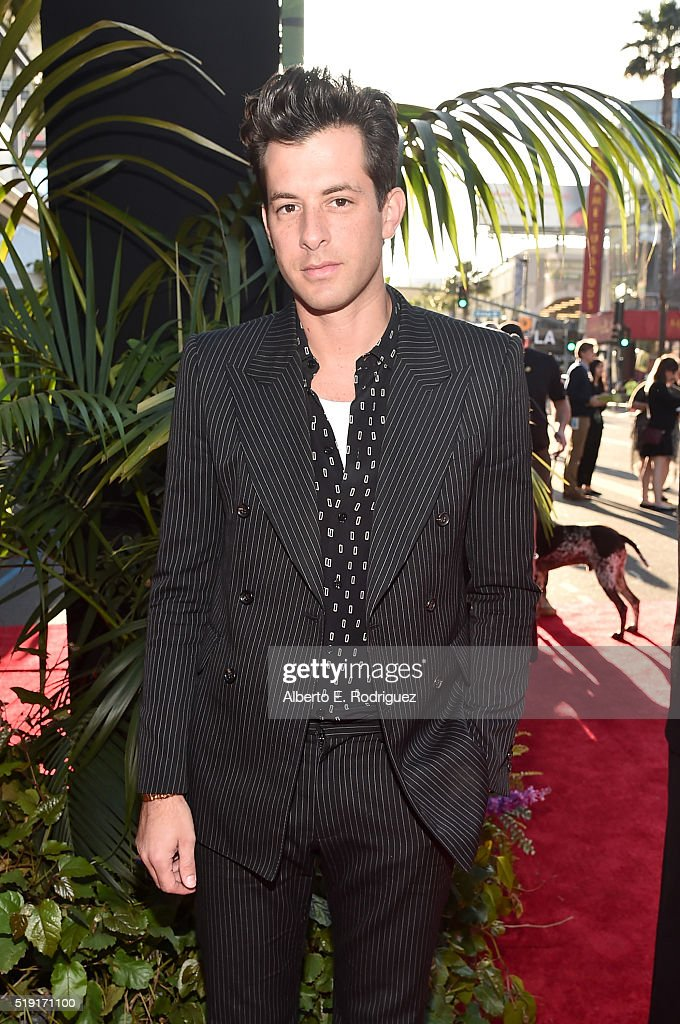 Music Producer Mark Ronson attends The World Premiere of Disney's 'THE JUNGLE BOOK' at the El Capitan Theatre on April 4, 2016 in Hollywood, California.