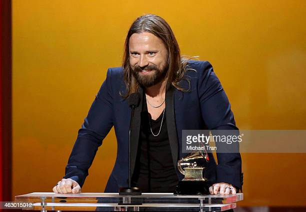 Music producer Max Martin speaks onstage during The 57th Annual GRAMMY Awards premiere ceremony at STAPLES Center on February 8 2015 in Los Angeles...