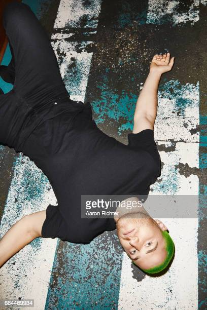 Music producer Mike Posner is photographed for Billboard Magazine on December 13 2016 at The Happiest Hour in New York City