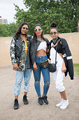 Music producer Monna Mansour wears a reclaimed vintage leather jacket Beyond Retro Army jacket Zara top Levi's jeans Adidas trainers Calvin Klein bag...