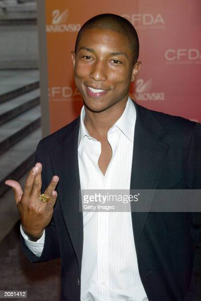 Music producer Pharell Williams attends the '2003 CFDA Fashion Awards' at the New York Public Library on June 2 2003 in New York City The '2003 CFDA...