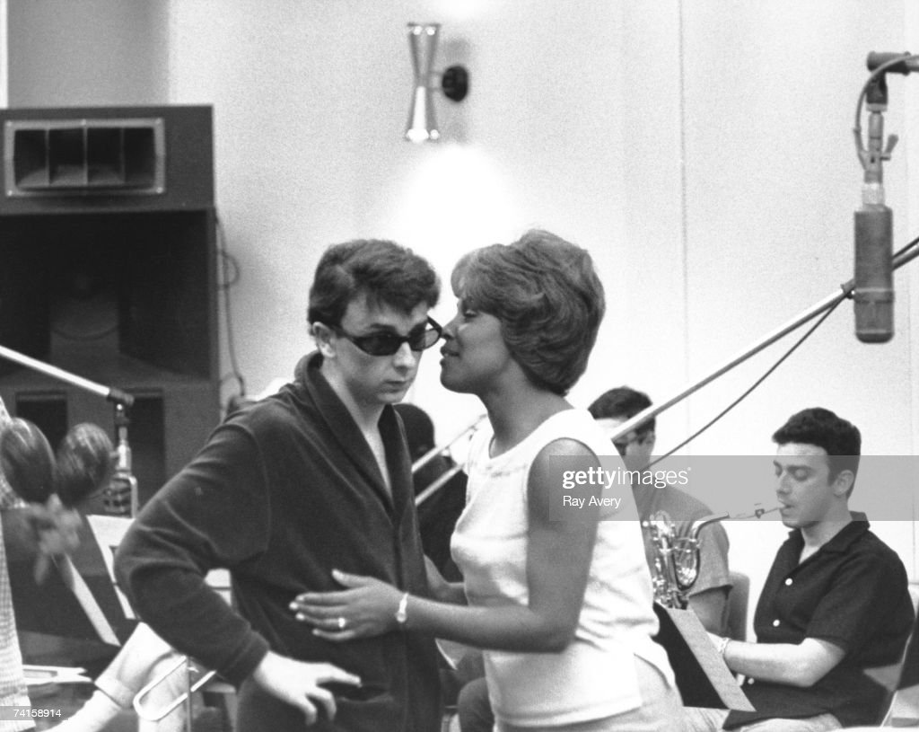 Music producer <a gi-track='captionPersonalityLinkClicked' href=/galleries/search?phrase=Phil+Spector&family=editorial&specificpeople=239134 ng-click='$event.stopPropagation()'>Phil Spector</a> with singer Darlene Love during a recording session in 1963 at Gold Star Studios in Los Angeles, California.