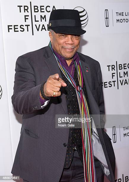 Music Producer Quincy Jones attends the premiere of 'Keep On Keepin' On' during the 2014 Tribeca Film Festival at BMCC Tribeca PAC on April 19 2014...