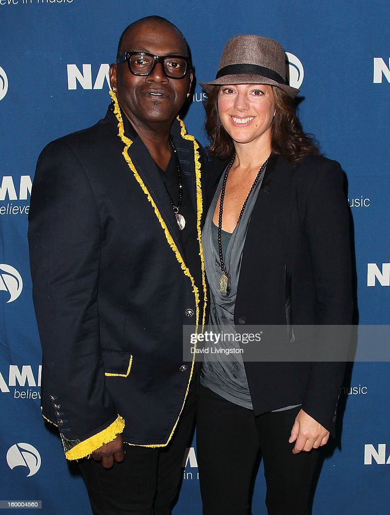 Music producer Randy Jackson (L) and recording artist Sarah McLachlan attend the 2013 NAMM Show - Day 1 at the Anaheim Convention Center on January 24, 2013 in Anaheim, California.
