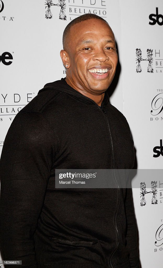 Music producer/ Rapper Dr Dre attends the launch party for Bonita Platinum Tequila at Hyde Bellagio at the Bellagio on March 2, 2013 in Las Vegas, Nevada.