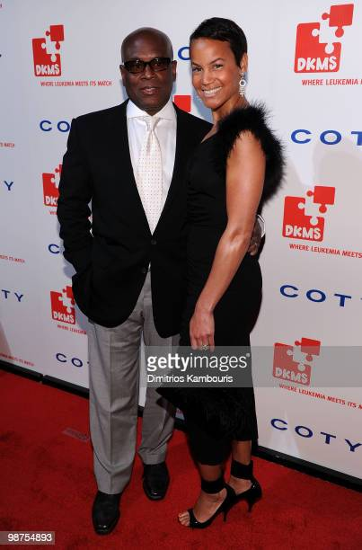 Music Producer LA Reid and Erica Reid attend DKMS' 4th Annual Gala Linked Against Leukemia at Cipriani 42nd Street on April 29 2010 in New York City