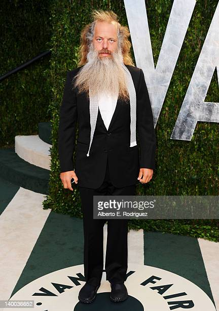 Music producer Rick Rubin arrives at the 2012 Vanity Fair Oscar Party hosted by Graydon Carter at Sunset Tower on February 26 2012 in West Hollywood...