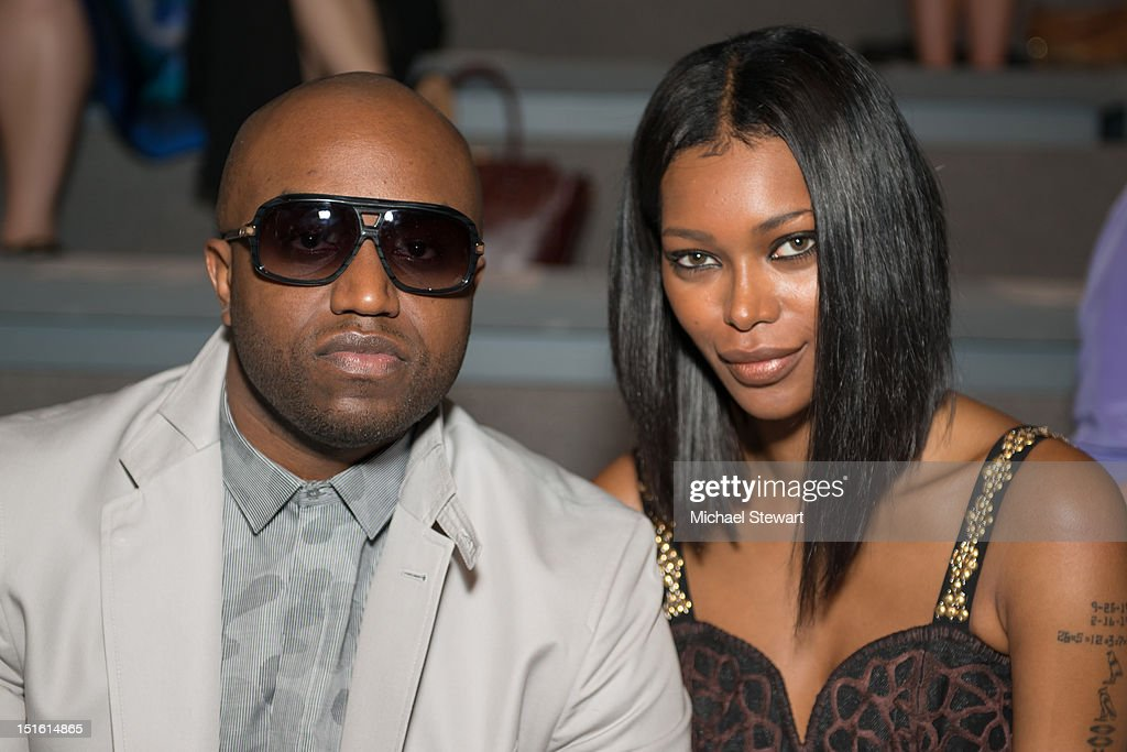 Music Producer <a gi-track='captionPersonalityLinkClicked' href=/galleries/search?phrase=Rico+Love&family=editorial&specificpeople=691968 ng-click='$event.stopPropagation()'>Rico Love</a> (L) and model <a gi-track='captionPersonalityLinkClicked' href=/galleries/search?phrase=Jessica+White&family=editorial&specificpeople=220742 ng-click='$event.stopPropagation()'>Jessica White</a> attend the Mara Hoffman show during Spring 2013 Mercedes-Benz Fashion Week at The Stage Lincoln Center on September 8, 2012 in New York City.